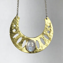 Load image into Gallery viewer, Moonstone Geometric Necklace SOLD