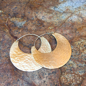 Hammered Hoop Earring