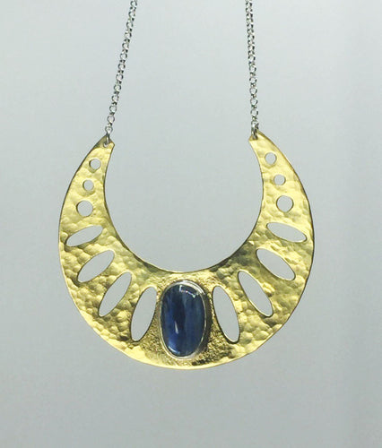 Kyanite Geometric Necklace