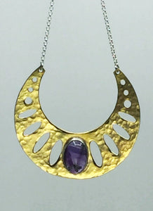 Amethyst Geometric Necklace - SOLD