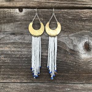 Lapis Beaded Earring