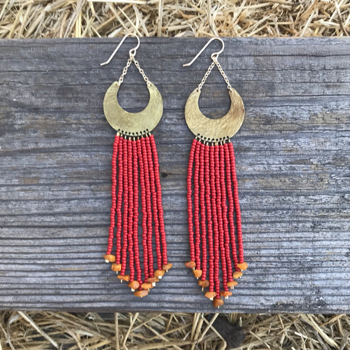 Red Rocks Beaded Earring
