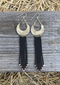 Midnight Sky Beaded Earring