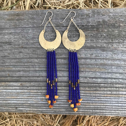 South West Desert Sky Beaded Earring