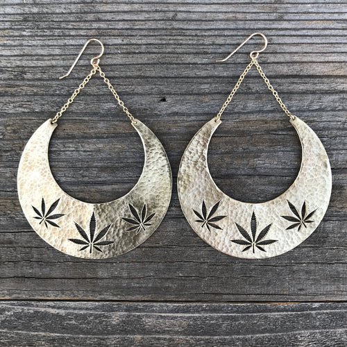 Cannabis Dangle Earring