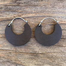 Load image into Gallery viewer, Small Cacao Wooden Hoop Earring