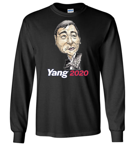 YANG 2020 LONG SLEEVED TEE - PLAYING POLITICS
