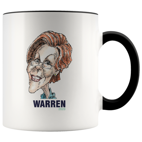 ELIZABETH WARREN 2020 COFFEE MUG - PLAYING POLITICS