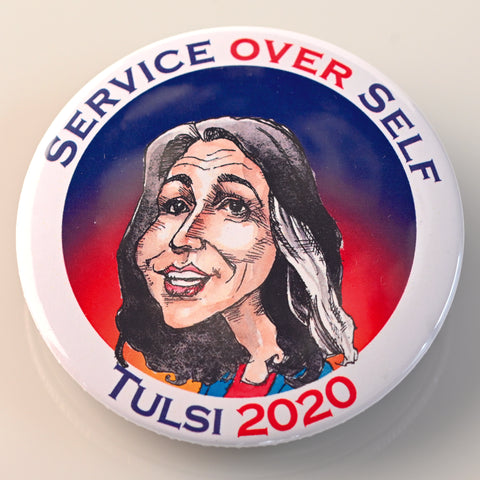 TULSI GABBARD BUTTON - PLAYING POLITICS