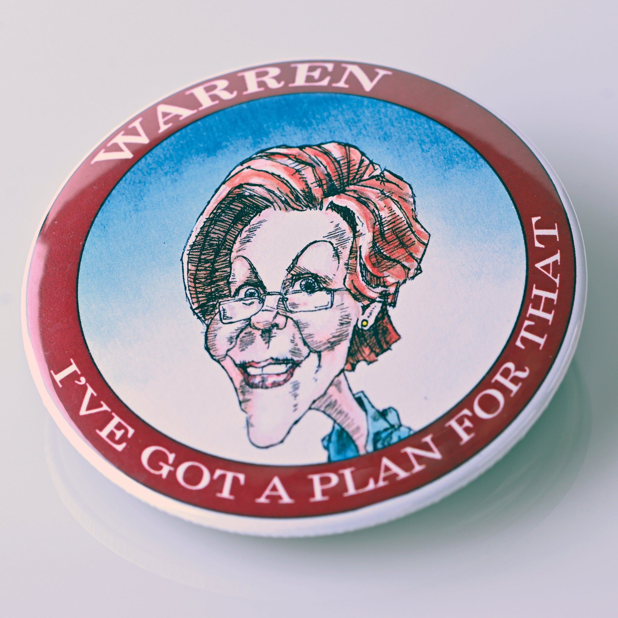 ELIZABETH WARREN BUTTON - PLAYING POLITICS