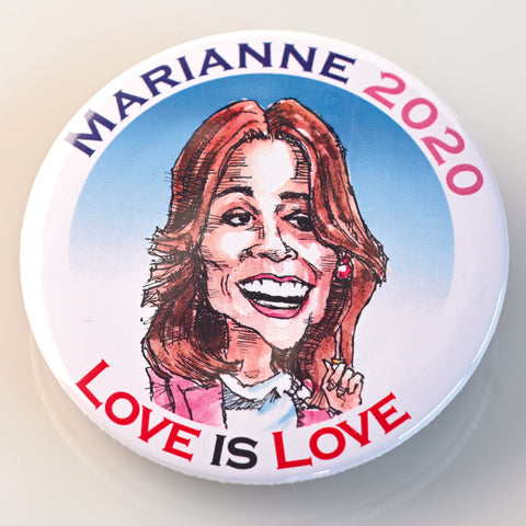 MARIANNE WILLIAMSON BUTTON - PLAYING POLITICS