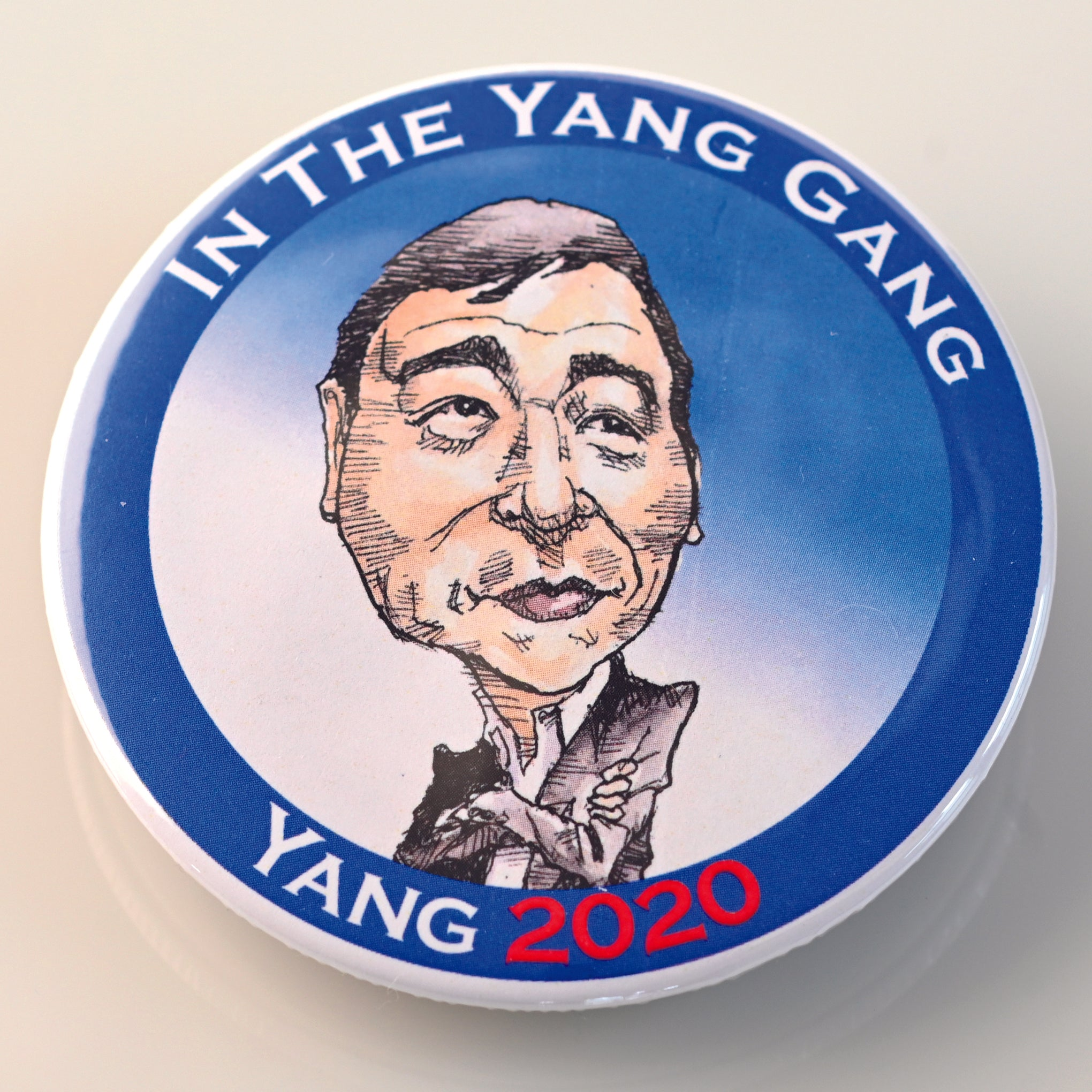 ANDREW YANG BUTTON - PLAYING POLITICS