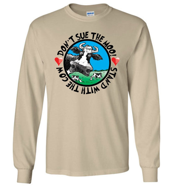 @DEVINCOW DON'T SUE THE MOO! LONG SLEEVED TEE-LONG SLEEVED TEE-PLAYING POLITICS
