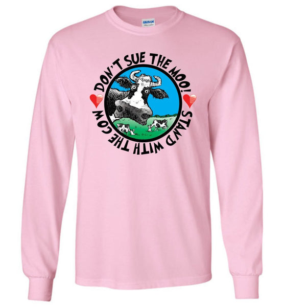 @DEVINCOW DON'T SUE THE MOO! LONG SLEEVED TEE - PLAYING POLITICS