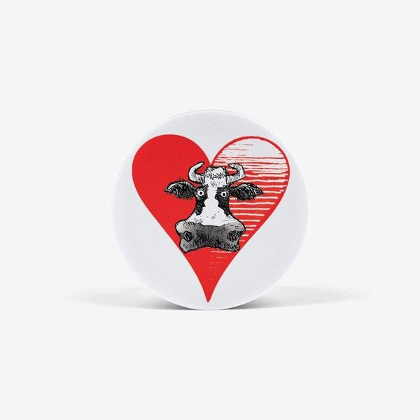 @DEVINCOW HEART THE COW PHONE POPPER-Cell Phone Poppers-PLAYING POLITICS