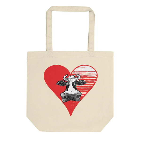 @DEVINCOW HEART THE COW TOTE-TOTE BAG-PLAYING POLITICS