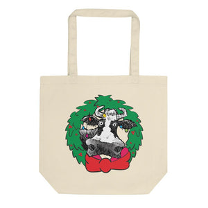 @DEVINCOW HOLIDAY WREATH TOTE-TOTE BAG-PLAYING POLITICS