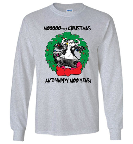 @DEVINCOW MOOOO-EY CHRISTMAS LONG SLEEVED TEE-LONG SLEEVED TEE-PLAYING POLITICS