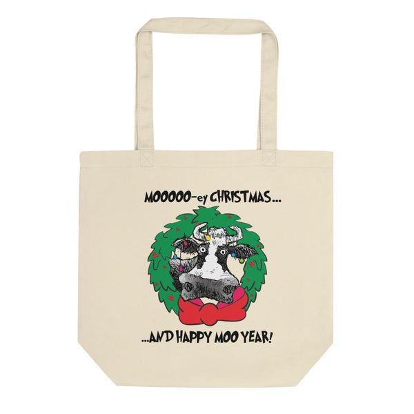 @DEVINCOW MOOOO-EY CHRISTMAS TOTE-TOTE BAG-PLAYING POLITICS