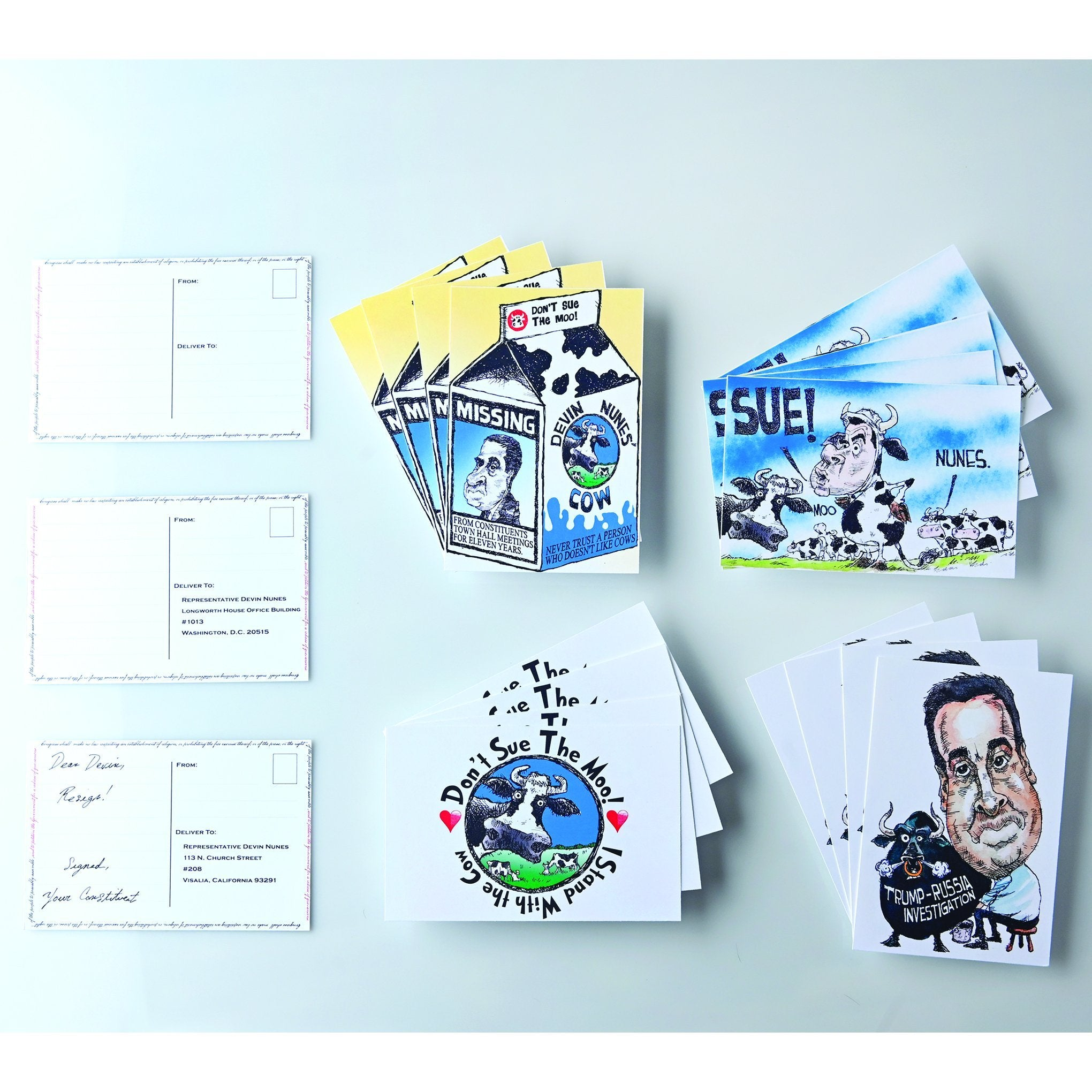 @DEVINCOW POSTCARDS-POSTCARDS-PLAYING POLITICS