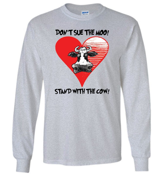 @DEVINCOW STAND WITH THE COW LONG SLEEVED TEE-LONG SLEEVED TEE-PLAYING POLITICS