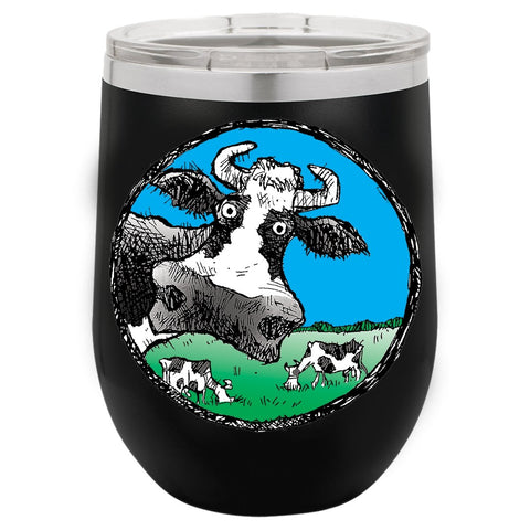 @DEVINCOW WINE TUMBLER-WINE TUMBLERS-PLAYING POLITICS