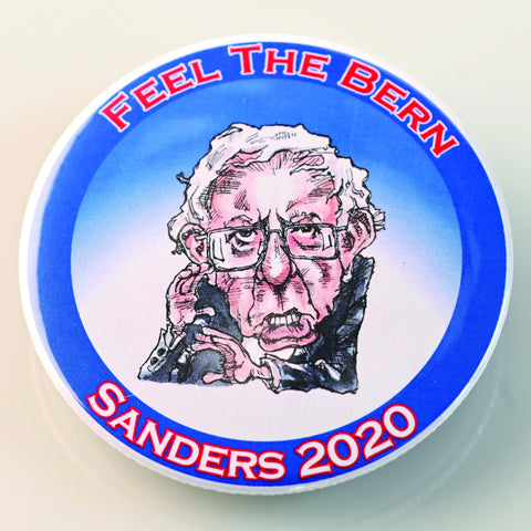BERNIE SANDERS BUTTON-BUTTON-PLAYING POLITICS