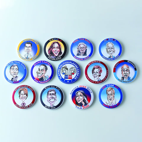 CANDIDATE PACK-BUTTON-PLAYING POLITICS