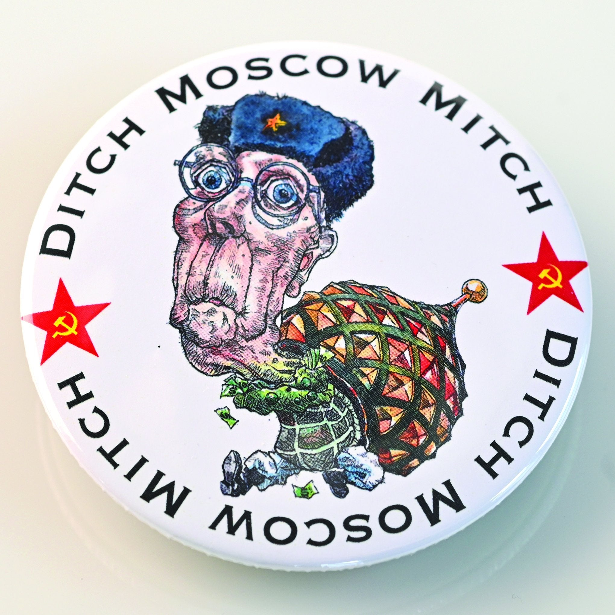 DITCH MOSCOW MITCH BUTTON-BUTTON-PLAYING POLITICS
