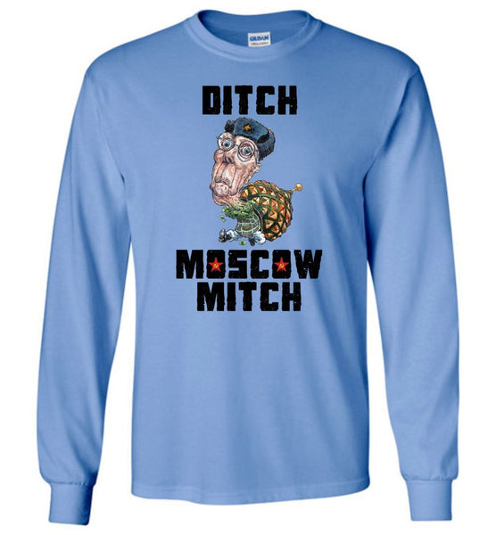 DITCH MOSCOW MITCH LONG SLEEVED TEE-LONG SLEEVED TEE-PLAYING POLITICS