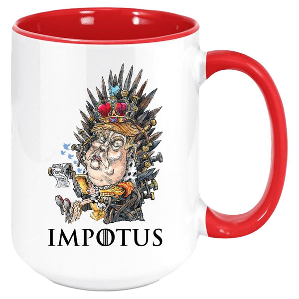 IMPOTUS COFFEE MUG-Mug - Coffee Mug, White with Colored Inside and Handle {Sublimated}-PLAYING POLITICS