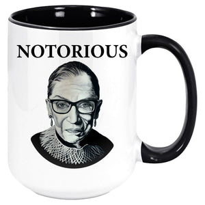 "RBG ""NOTORIOUS"" ACCENT COFFEE MUG-COFFEE MUG-PLAYING POLITICS"