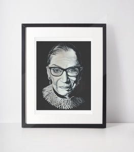 RBG PORTRAIT ART PRINT-PRINT-PLAYING POLITICS