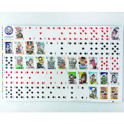 UNPRESIDENTED DECK UNCUT SHEET-PLAYING CARDS-PLAYING POLITICS