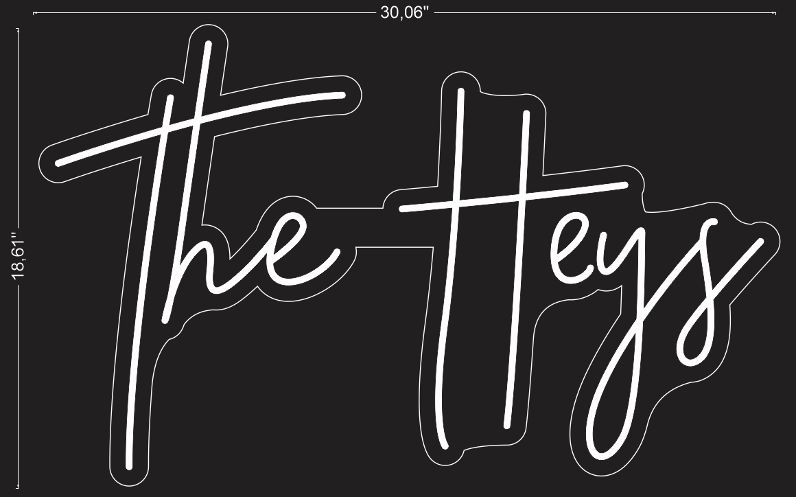 "Custom ""The Heys"" Neon Sign"