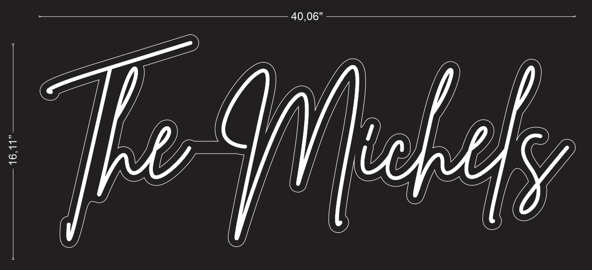 "Custom ""The Michels"" Neon Sign For Emily DeBacker"