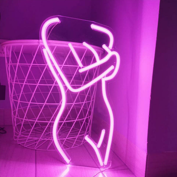 Lady body neon sign