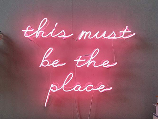 This Must Be The Place | Classic Neon Sign