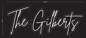 "Custom ""The Gilberts"" Neon Sign"