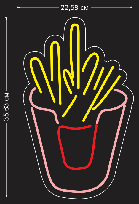 Custom 'Fries' Neon Sign
