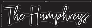 "Custom ""The Humphreys"" Neon Sign"