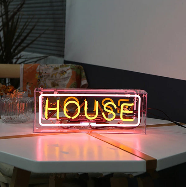 HOUSE | Neon Sign in Acrylic Box