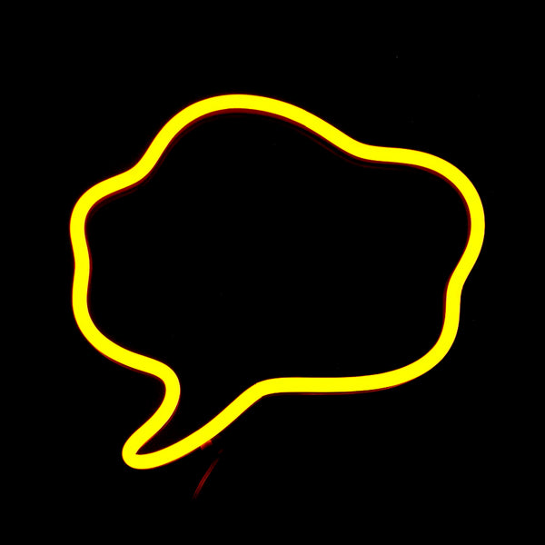 thought bubble neon sign