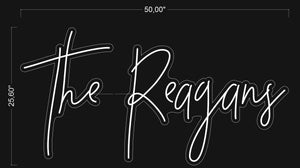 "Custom ""The Reagans"" Neon Sign"