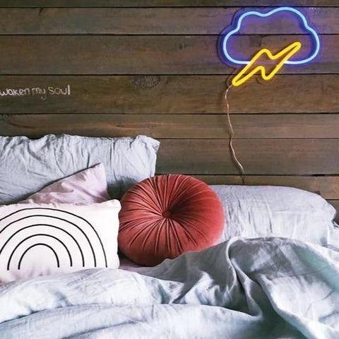 thunder cloud neon sign