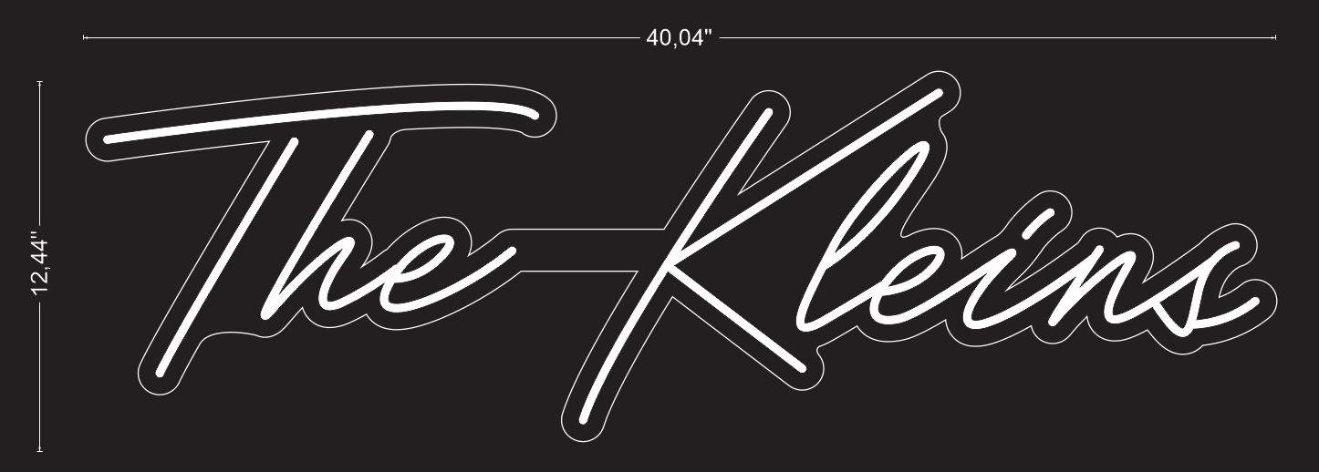 "Custom ""The Kleins"" Neon Sign"