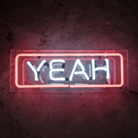 YEAH | Neon Sign in Acrylic Box