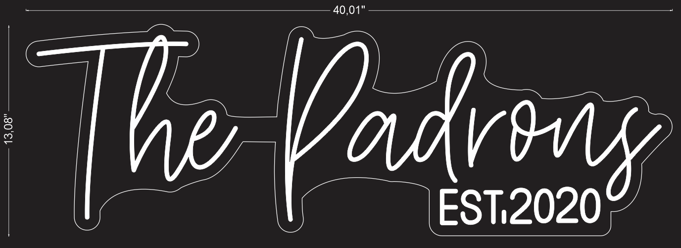 "Custom ""The Padrons"" Neon Sign"