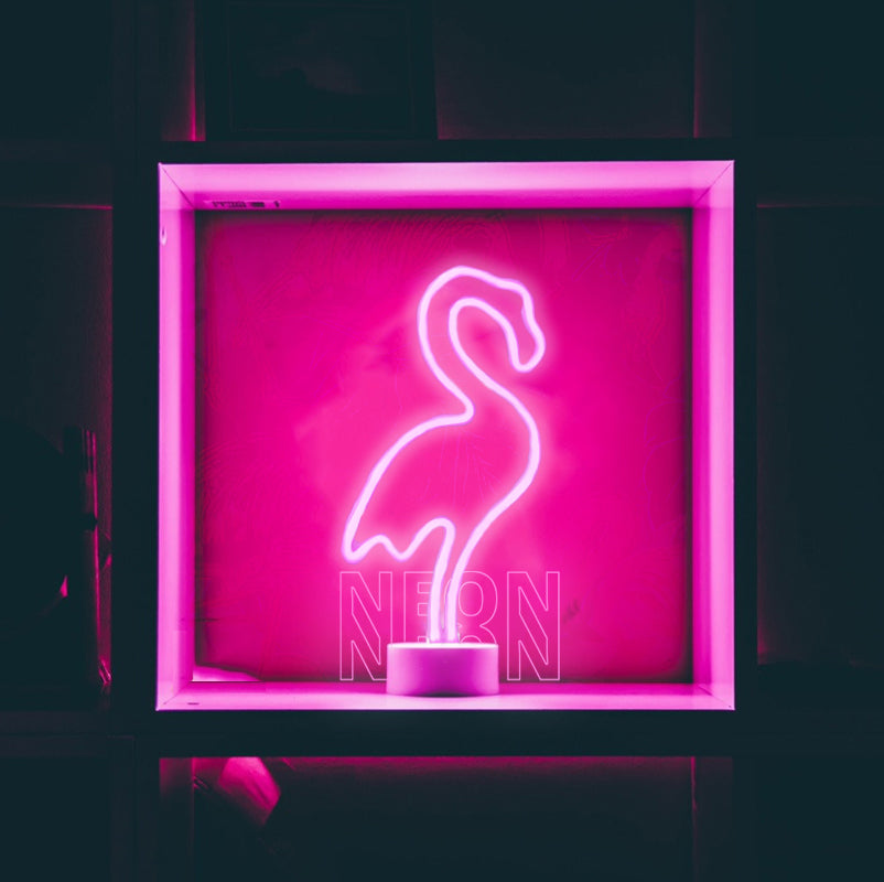 flamingo neon sign