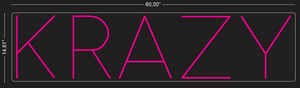 "Custom ""KRAZY"" Neon Sign"